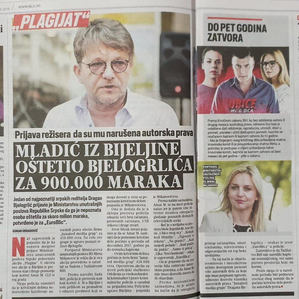 Advokat Vasilić: A. M. nije uhapšen niti mu se stavlja na teret 450.000 EUR-a